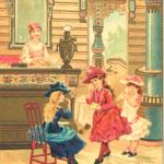 Рекламная открытка русского ресторана на всемирной выставке 1889 года в Париже.